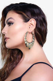 Chunky Gold Statement Earrings