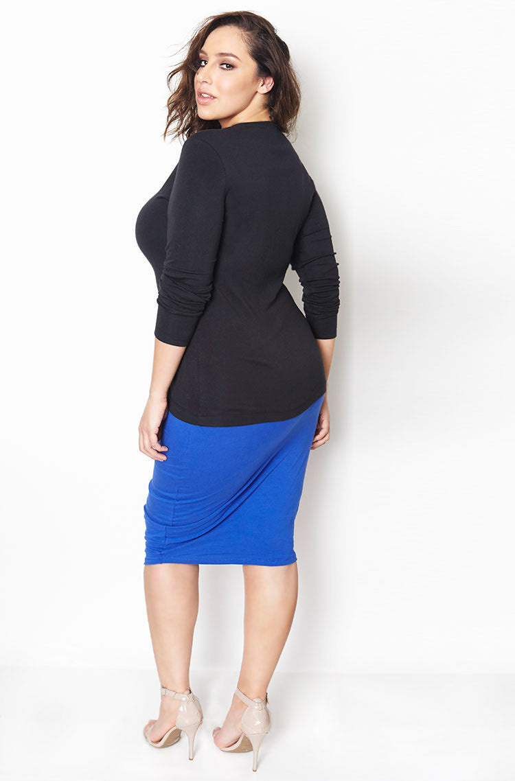 Black Knit Jersey Cardigan plus sizes