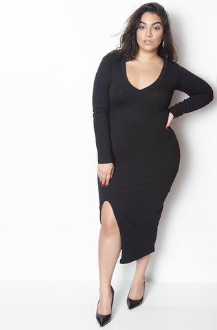 "Grisel. ""The Heiress"" Cut-Out Mid Calf Dress - Final Sale Clearance"