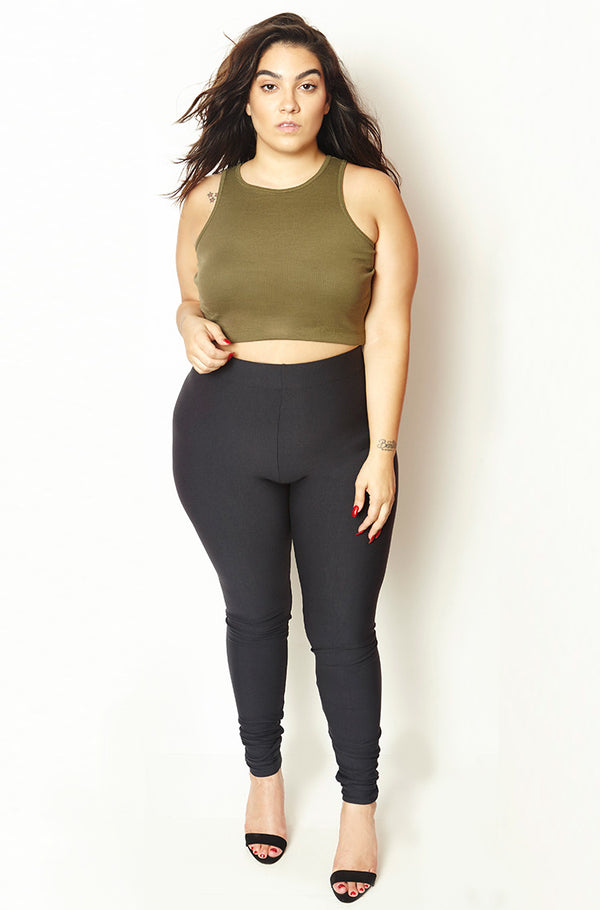 Black Insulated High Waist Lycra Legging Plus Sizes