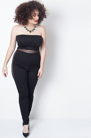 "Rebdolls ""Bang, Bang"" Knee Cut-Out Jumpsuit"