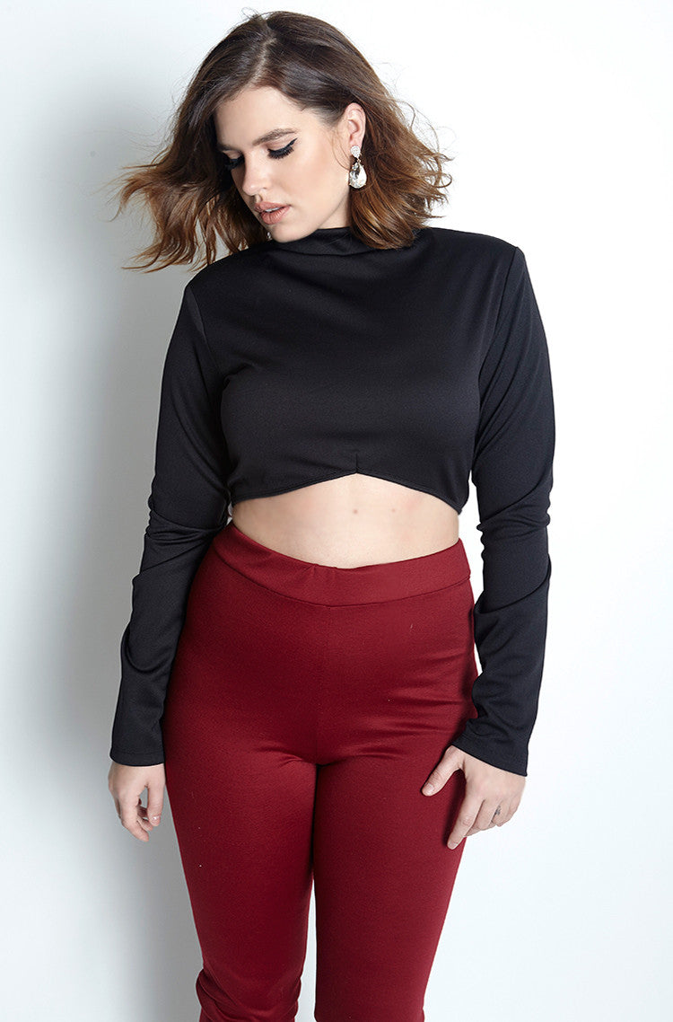 Black Crop Top plus sizes