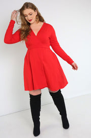 Red Wrap Mini Dress Plus sizes