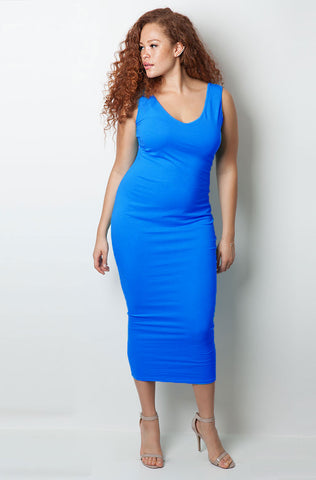 "Rebdolls ""Block Party"" Racerback Midi Dress FINAL SALE"