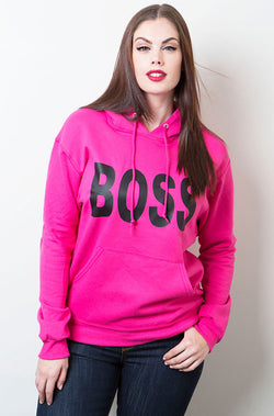 Neon Pink Hoodie plus sizes