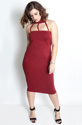 "Rebdolls ""Red Matter"" Light-Weight Crew Neck Midi Dress - Final Sale Clearance"