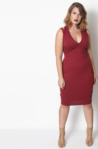 "Rebdolls ""Is It True? Ruched Midi Dress - FINAL SALE CLEARANCE"