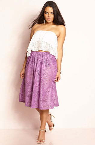 "Rebdolls ""Let It Rain""Flower Print Tailored Skirt"