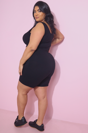 Black Short Leggings Set Plus Sizes