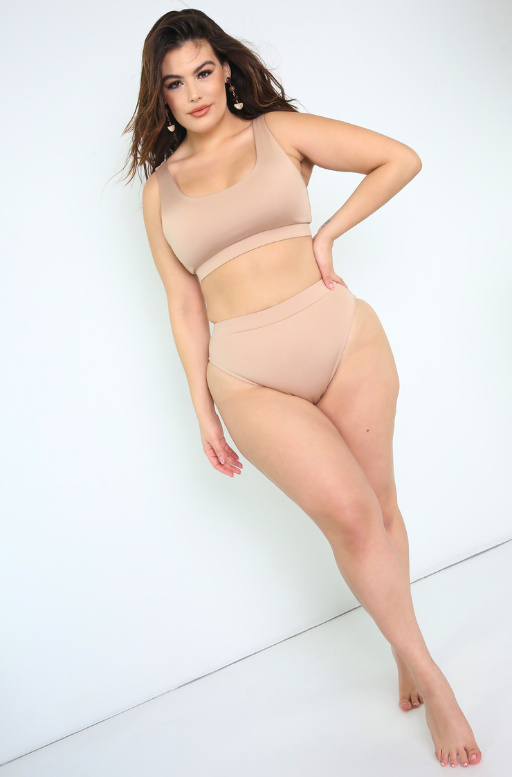 Nude Tank Swimsuit Top Plus Sizes