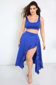 Royal Blue Tank Swimsuit Top Plus Sizes