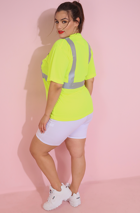 Neon Yellow Reflective Shirt Plus Sizes