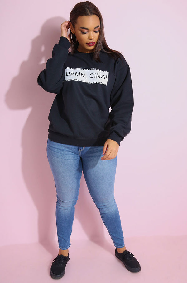 Black Sweatshirt plus sizes