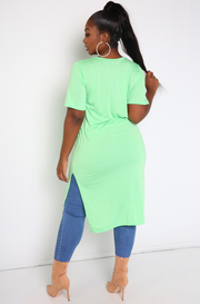 Mint Caged Midi Top Plus Sizes