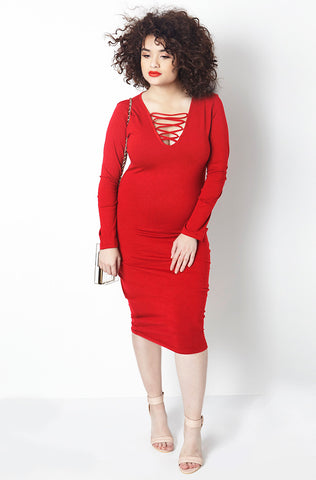 "Rebdolls ""More Like You"" Midi Dress & Cardigan Set-Final Sale"