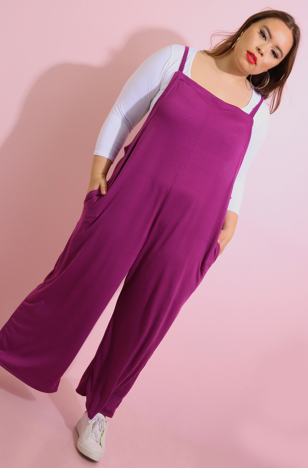 Purple Oversized Jumpsuit Plus Sizes