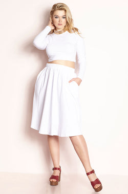 White Skater Midi Set plus sizes