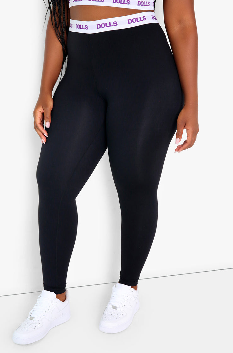 Black High Waist Leggings Plus Sizes