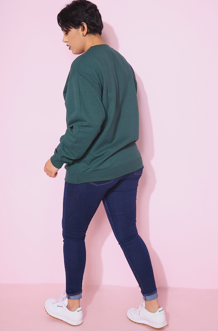 Hunter Green Sweatshirt plus sizes