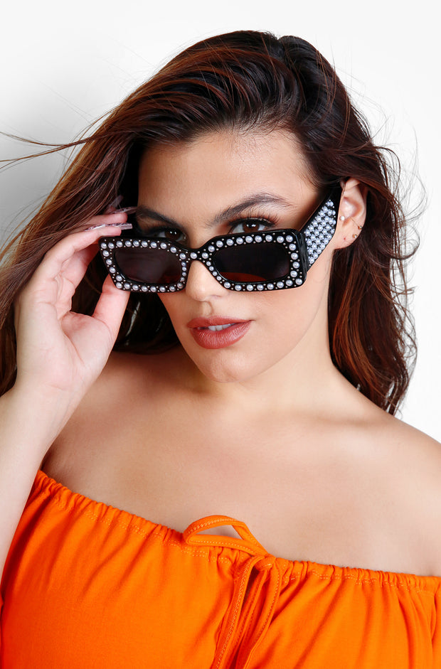 Black Pearl Stud Sunglasses Sunglasses