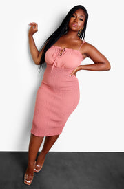 Rose Keyhole Bodycon Mini Dress Plus Sizes