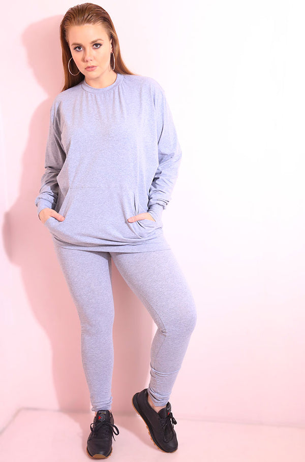 Heather Gray Sweatshirt Top plus sizes