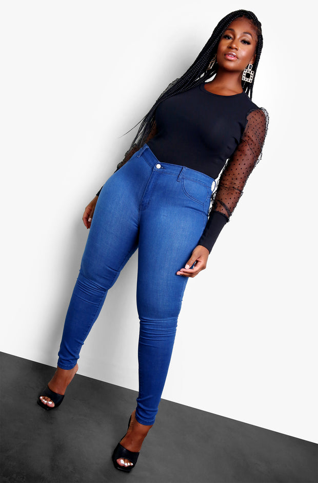 Black Long Sleeve Bodysuit Plus Sizes
