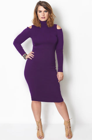 "Rebdolls ""Just Give Me The Money"" Ribbed Midi Dress - FINAL SALE CLEARANCE"