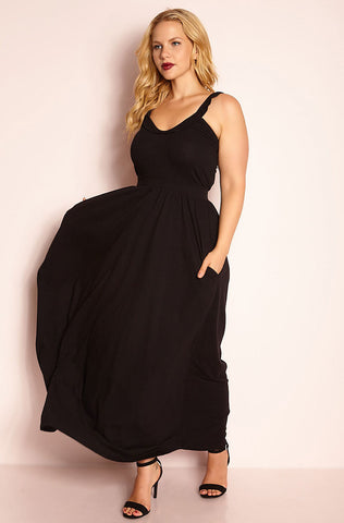"Unbranded. ""Much Sooner"" Chiffon Maxi Dress"