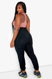 Black High Waist Joggers Plus Sizes