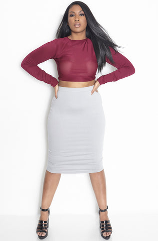 "Rebdolls ""Go Flex"" Ribbed Turtleneck Crop Top - FINAL SALE CLEARANCE"