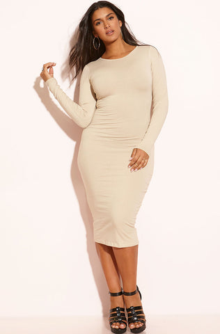 "Rebdolls ""Don't Make Me Wait"" Turtleneck Midi Dress - White - FINAL SALE"