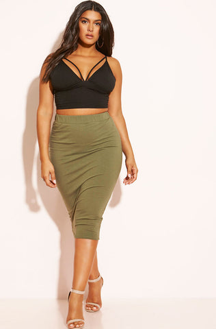 Rebdolls Essential Mini Skater Skirt - Orange