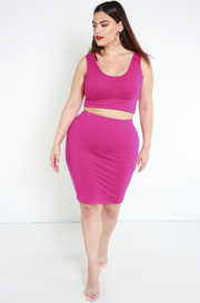 Fuchsia Bodycon Mini Skirt plus sizes