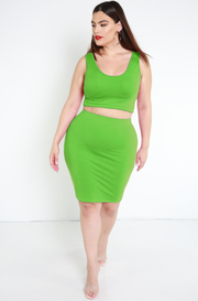 Lime Green Tank Top plus sizes