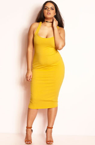 "Rebdolls ""Body Party"" Spandex Mid-Calf Strapless Dress"