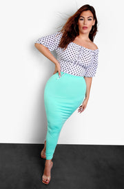 Mint Essential Bodycon Maxi Skirt Plus Size