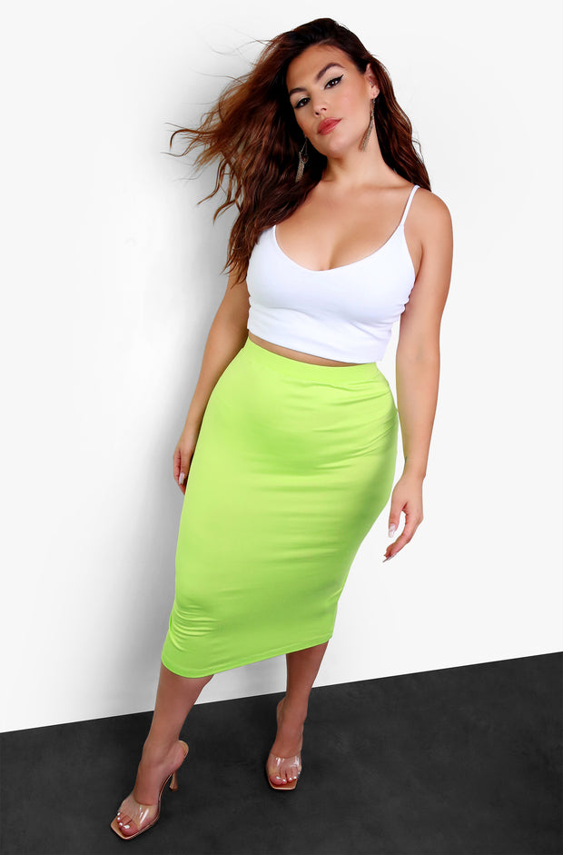White Essential Strappy V-Neck Crop Top Plus Sizes