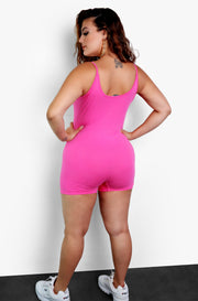 Pink Essential Strappy Jumper Plus Size