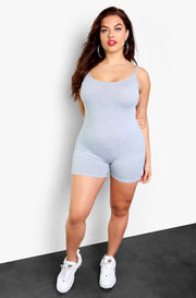 Gray Essential Strappy Jumper Plus Size