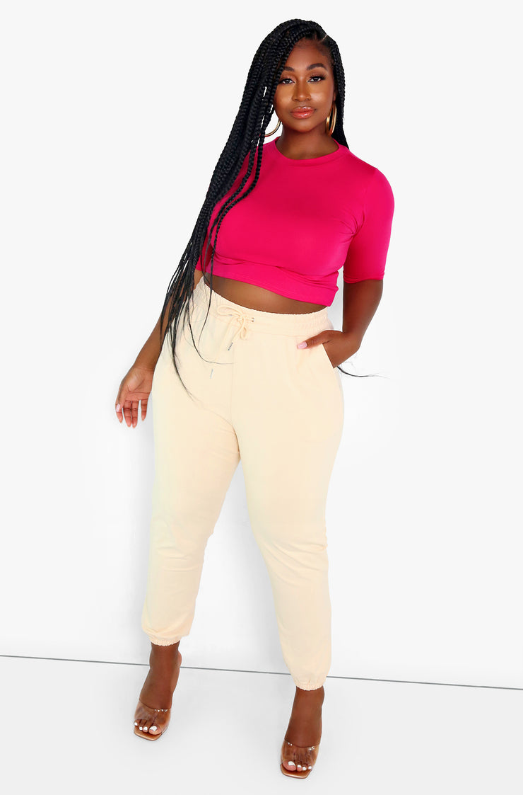 High Waist Joggers Plus Sizes