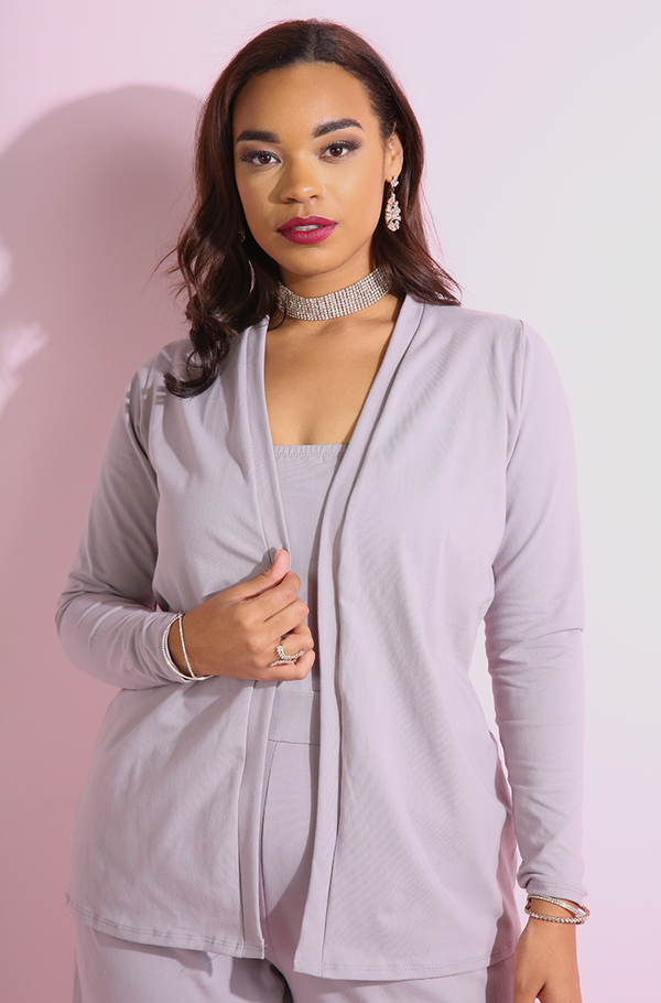 "Rebdolls ""Facts Only"" Long Sleeve Cardigan"