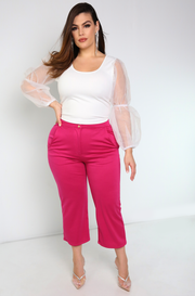 "Rebdolls ""Hamptons"" Puff Sleeve Top"