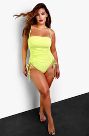 Lime Green One Piece Swimsuit Plus Sizes