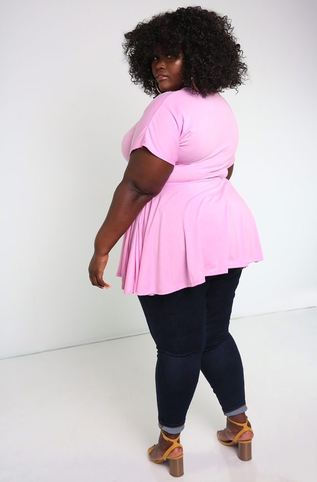 "Rebdolls ""Find Out"" Crew Neck Ruffled Top- FINAL SALE"