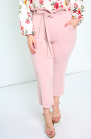 Blush Paper Bag Cigarette Pants Plus Sizes
