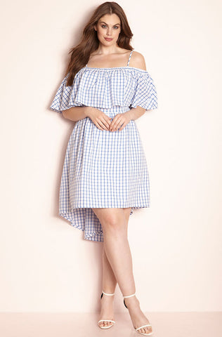 Rebdolls Essential Short Sleeve Scoop Neck Mini Dress - White