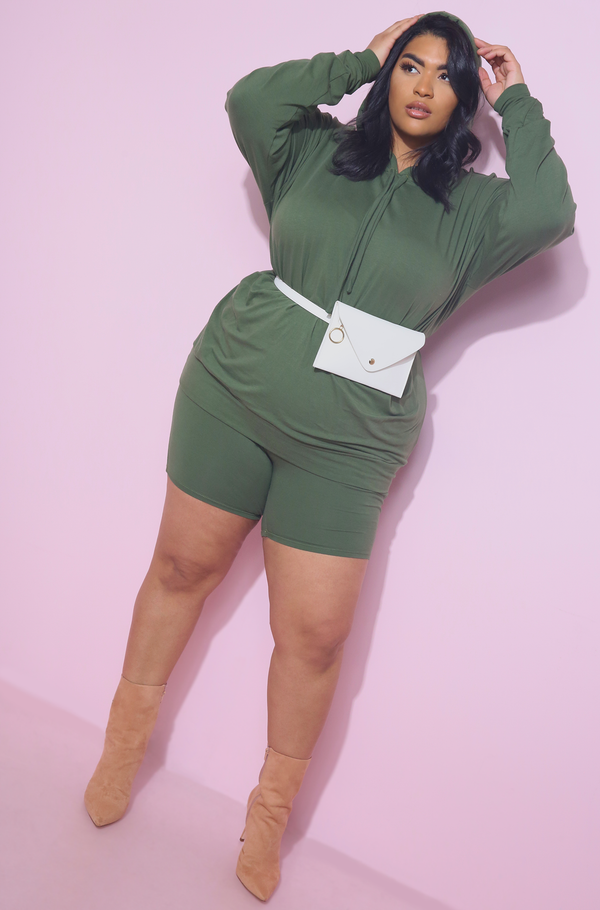 Olive Short Legging Plus Sizes