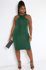 Emerald Green Bodycon Mini Dress Plus Sizes