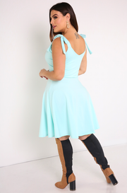 "Rebdolls ""For The Record"" Tied Up Skater Mini Dress"